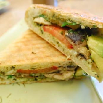 , CA, United States. Vegetarian Sandwich - Mushrooms, tomato, avocado ...
