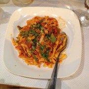 Tagliatelle with arrabiata sauce