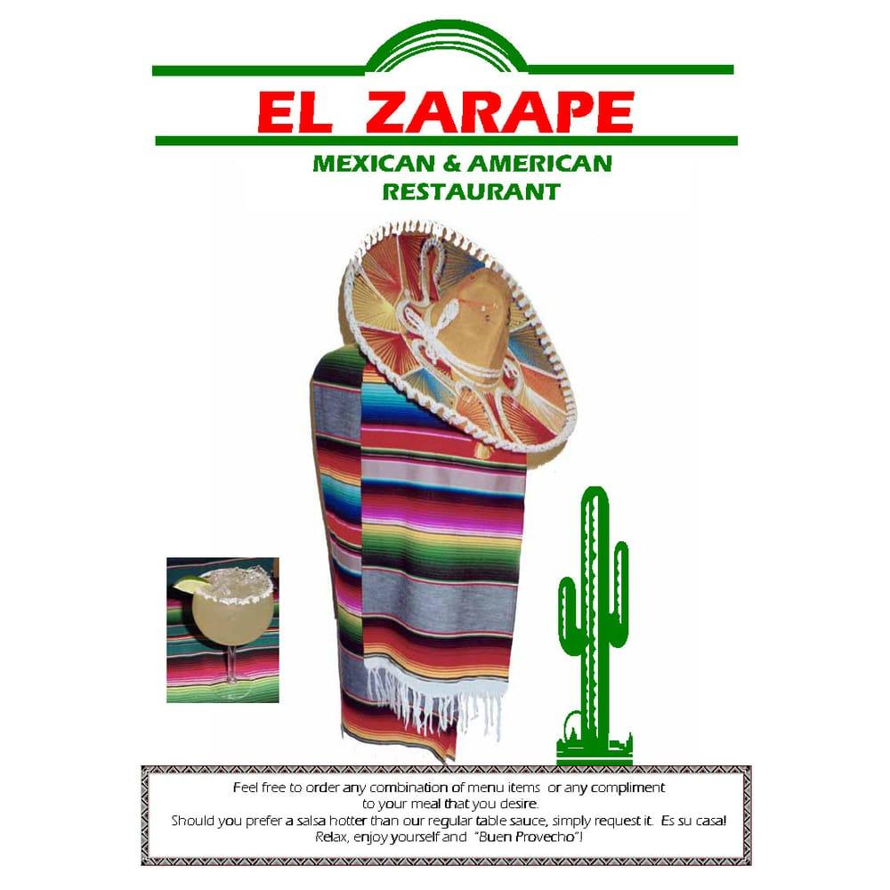 El zarape mexican american restaurant mexican - Mexican american cuisine ...