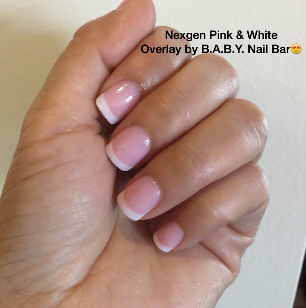 The Nail Bar Miami: Nexgen Pink & White Overlay (over Your Natural Nails, No