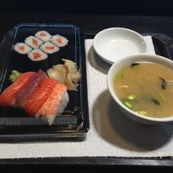 Bento Menü mit Miso Suppe