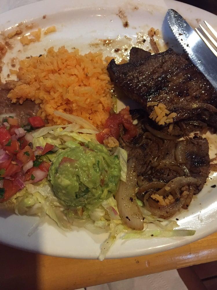 Carne Asada Platter Sorry I Took A Few Bites Before I Took The Pic Yelp