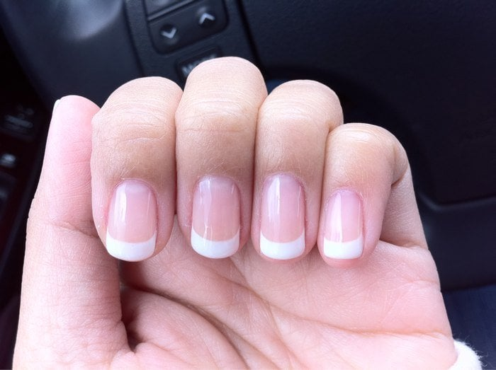 Gel manicure with french tips