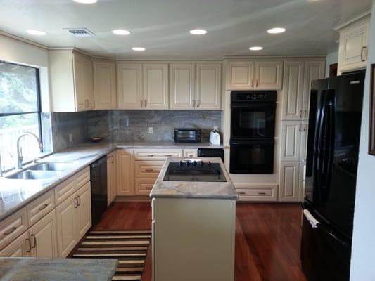 Prefab Granite Countertops Near Me : Choice Granite & Cabinets - Antique White Kitchen Cabinets w ...