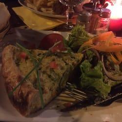 L'Entrepot's - Paris, France. House quiche, salmon and broccoli. Excellent!!