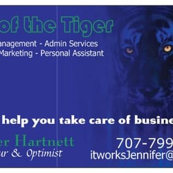 Eye of the Tiger - Business Card - Santa Rosa, CA, Vereinigte Staaten
