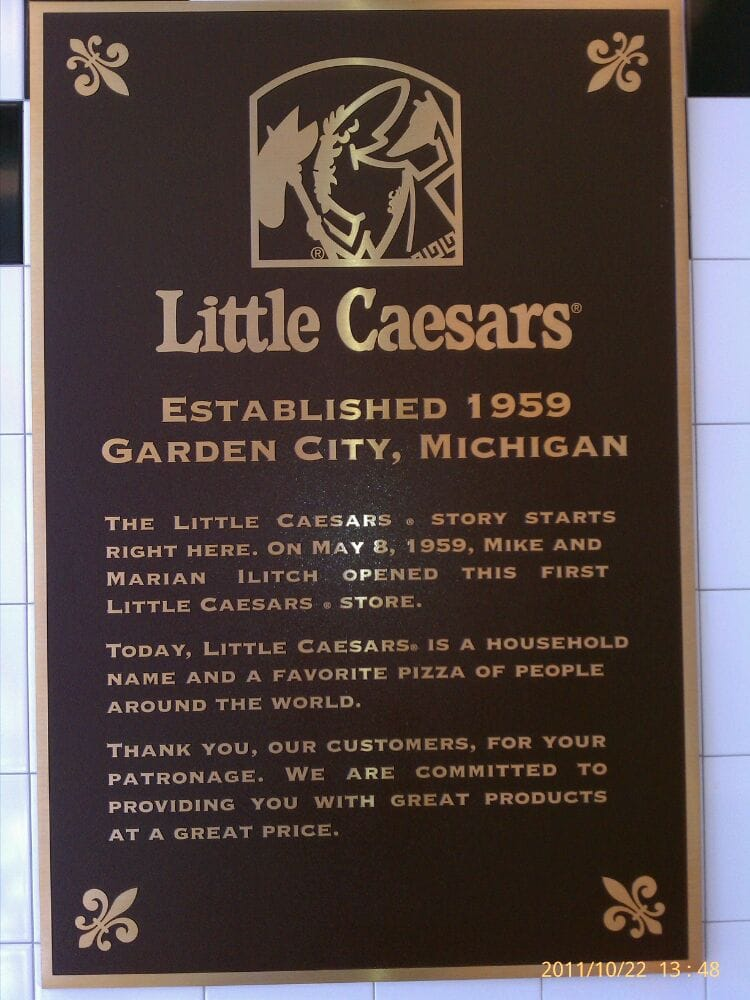 Little caesars pizza pizza garden city mi verenigde Garden city pizza