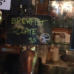 Several Brewfist beers on tap... they…