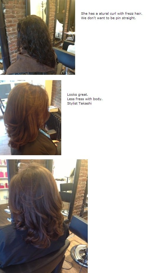 3 Japanese Straightening Perm Before And After Picture By