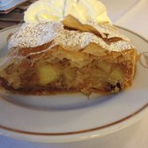 Traditional apple strudel -Apfelstrudel in German