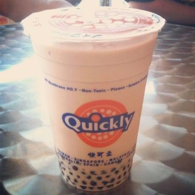 Quickly Taro Bubble Tea Regular milk tea w/ mi...