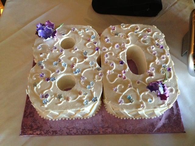 Mom 39 s 80th birthday cake delicious yelp for Gardening 80th birthday cake