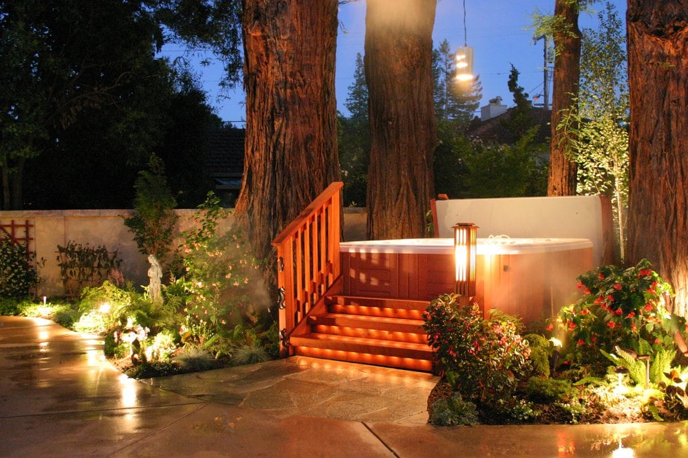 Landscaping With Redwood Trees : Hot springs spa placed in a grove of year old redwood trees yelp