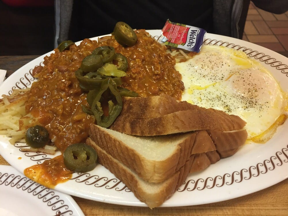 Waffle House Hash Browns All The Way Waffle House All Starter With Extra Hash Browns Smothered in Chili