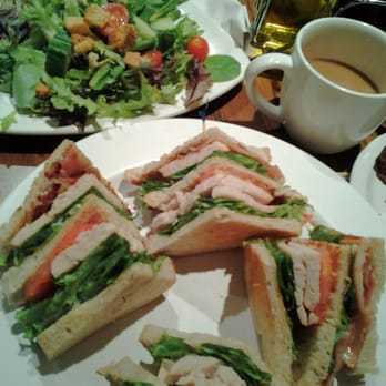... Cafe - Temecula, CA, United States. Turkey club sandwich and salad