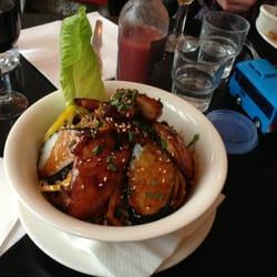 La maki rice chicken salade