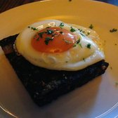 Black Pudding with Fried Egg