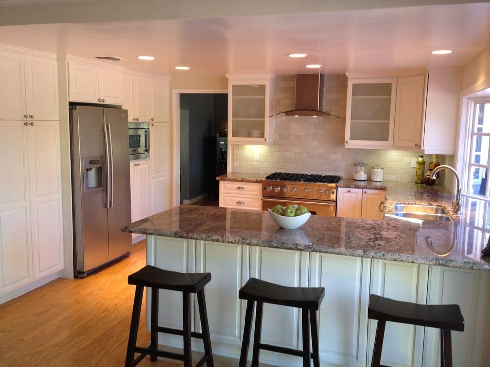 Bay Window Bar Stools Kitchen Island Marble Countertop