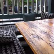 Outside covered seating area complete…