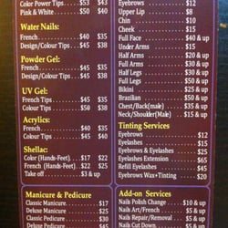 Star Nail and Spa - Here`s a price list I've picked up. Updated Aug ...