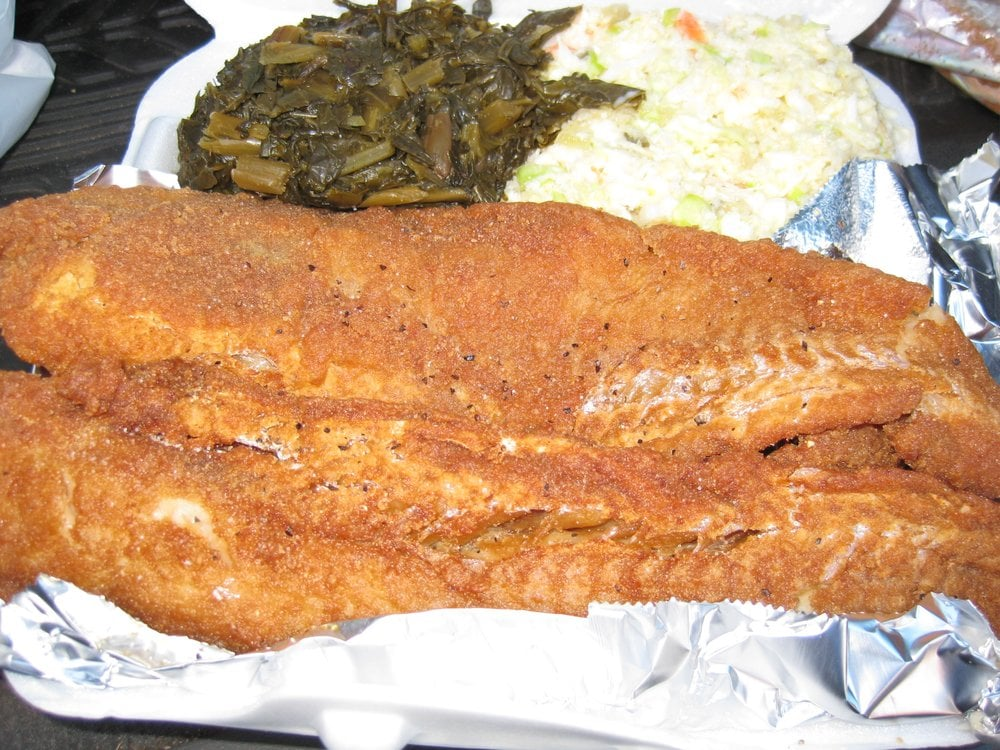 Fried whiting with collard greens cole slaw yelp for Whiting fish florida