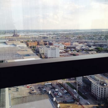 Hilton New Orleans Riverside View From Executive Lounge