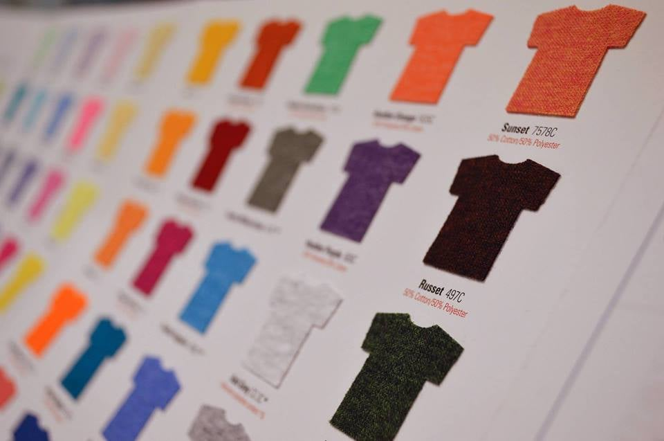 French press custom apparel printing design screen for T shirt printing in colorado springs