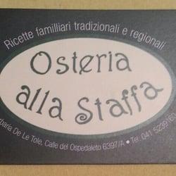 Osteria Alla Staffa - The correct address - Venezia, Italien
