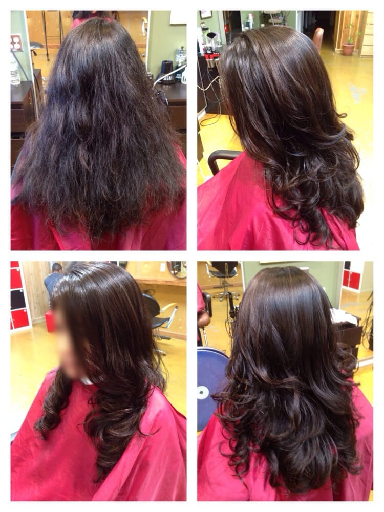 Before After Straightening Top Half And Digital Perm