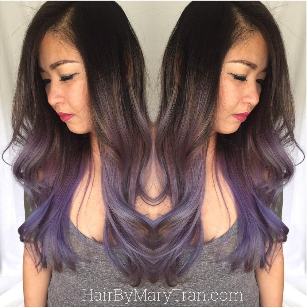 Balayage Highlights On Dark Hair Purple