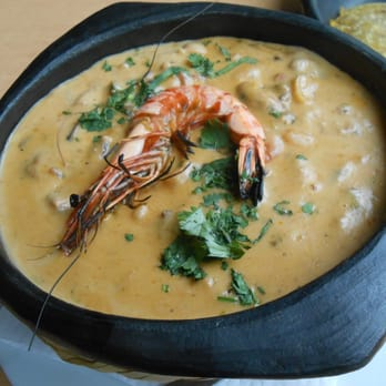 Cazuela de Mariscos or fish stew to me and you.