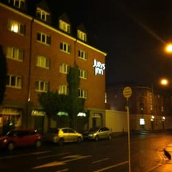 Jury's inn at night.