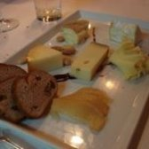 cheese course with Tete de Moine!