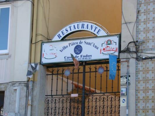 Restaurante Casa de Fados Velho Páteo de Sant'Ana