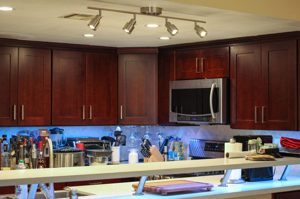 full view of lighting in kitchen led recessed lights led. Black Bedroom Furniture Sets. Home Design Ideas