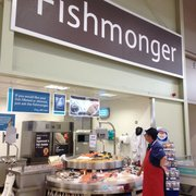 Fishmonger available to serve and advise