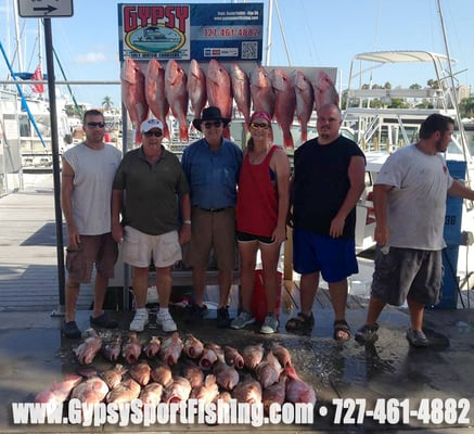 Gypsy salt water charters fishing clearwater beach for Clearwater charter fishing