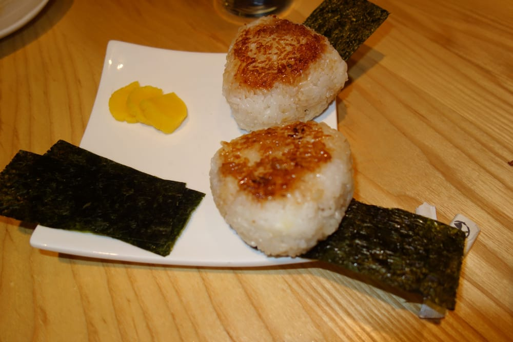 Yaki Onigiri - Grilled Japanese rice ball with soy sauce, grilled ...