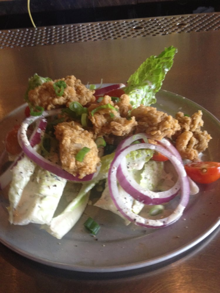 Fried Oyster Salad Crunchy