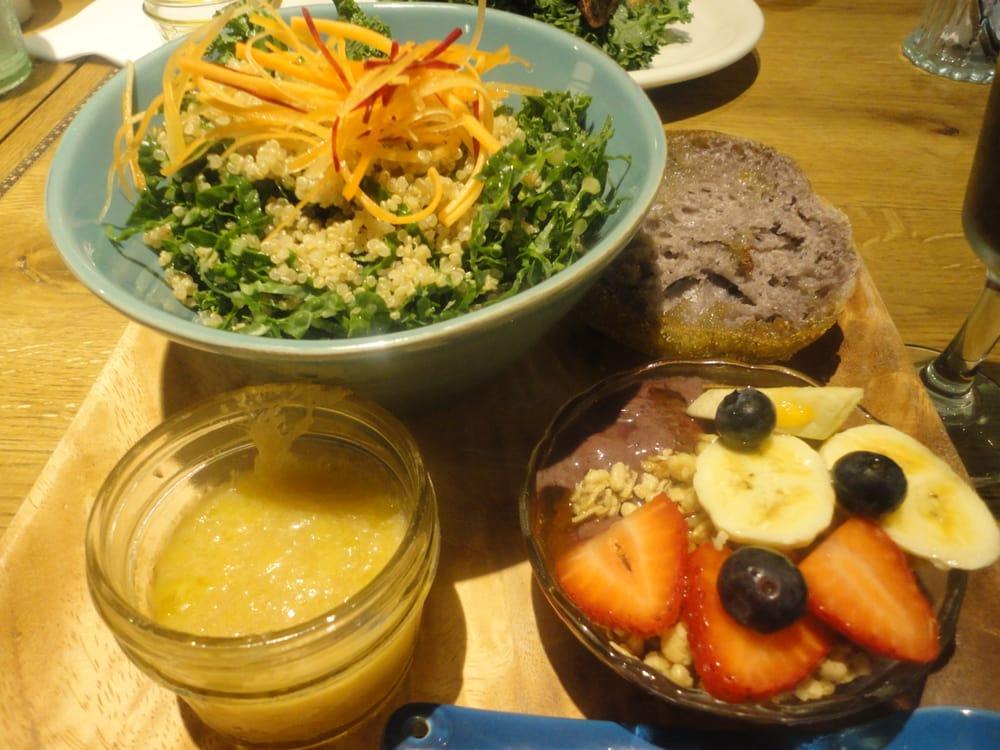 Honolulu, HI, United States. Veggie breakfast: Quinoa and kale salad ...