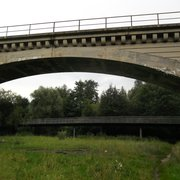 Steinbogenbrücke über die Pegnitz, Nürnberg, Bayern