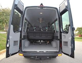 Rented this 12 15 passenger mercedes benz sprinter vans for Mercedes benz minibus rental