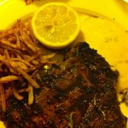 L'entrecôte with matchstick potatoes and…