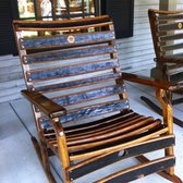 Jack Daniels Distillery - Whiskey Barrel Rocking chair - Lynchburg ...
