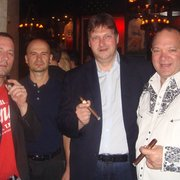 Heiko Nest and Christopher Mey of Rocky Patel Premium cigars.