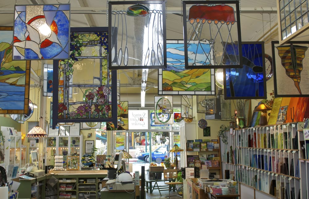 Stained glass garden art supplies fourth street for Arts and crafts workshops near me