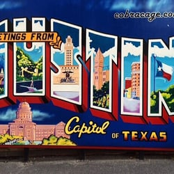 Greetings from austin postcard mural austin tx united for Austin postcard mural