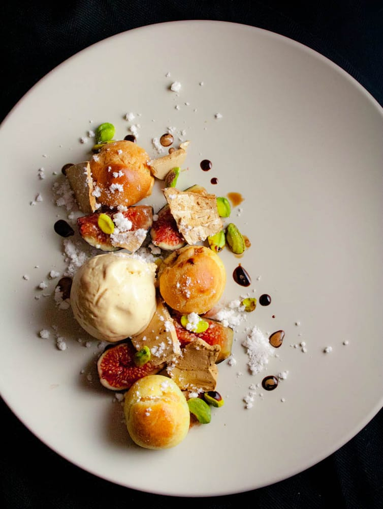 United States. Caramelized White Chocolate Profiteroles and Ice Cream ...