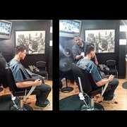 Jimmy Sanchez, Barber - This was not an easy haircut to give. But thebarber and staff  took a lot of time meticulously making sure it was just right - Oakland, CA, Vereinigte Staaten