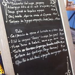 La Fee Gourmande - Arles, Bouches-du-Rhône, France. La carte